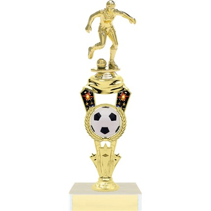 Spinning Ball Soccer Trophy