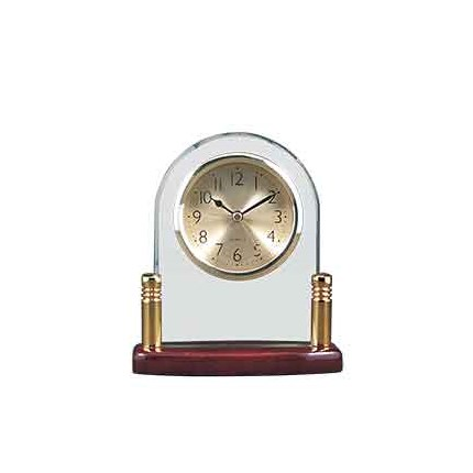 GLASS CLOCKS WITH METAL AND ROSEWOOD PIANO FINISH WOOD
