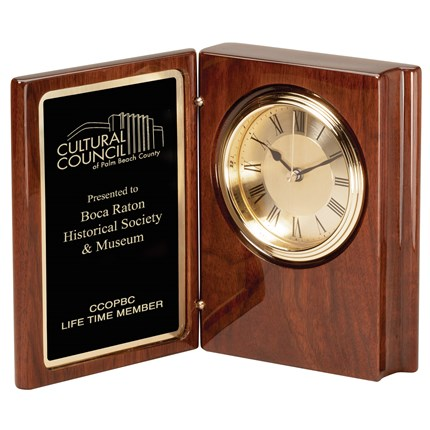 CLOCK - WALNUT PIANO FINISH