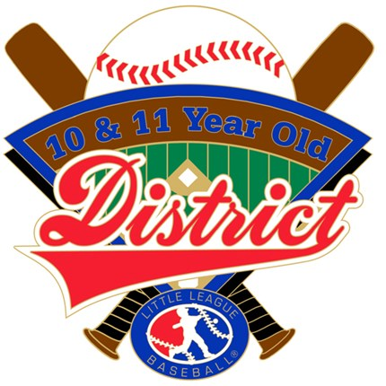 10 & 11 Year Old Baseball Pin Series - District