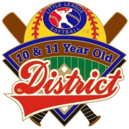 10 & 11 Year Old Softball Pin Series - District