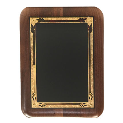LASER BLACK MARBLE WALNUT PLAQUE
