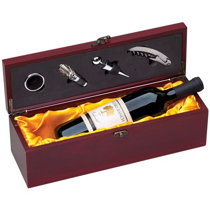 WINE AND ACCESSORIES PRESENTATION SET - ROSEWOOD
