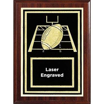 Laser Plaque Series - Football