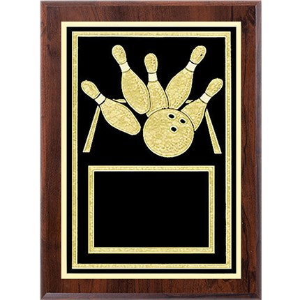 Laser Plaque Series - Bowling