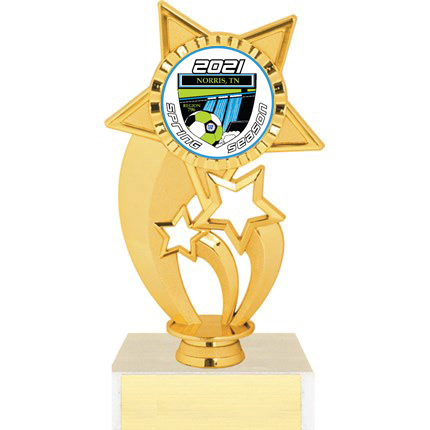 Trophy with Logo - Star Figure Series - AYSO