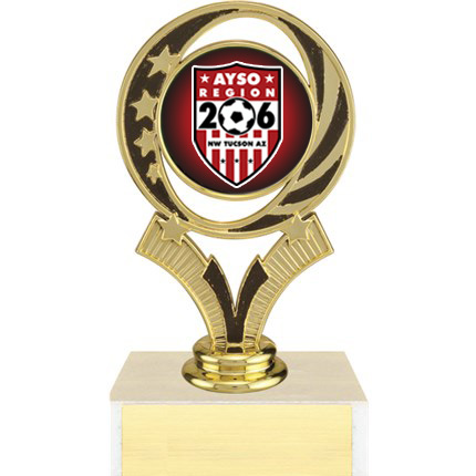 AYSO Trophy with Logo Insert - Figure Series - Circle