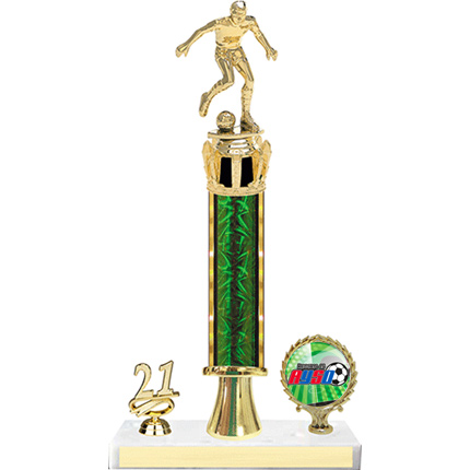 Soccer Trophy - Single Post with Insert and Year - AYSO