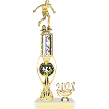 Wilson Series AYSO Trophy with Insert and Year